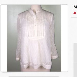 Madewell Tops - Madewell Ivory Sheer Long Sleeve Blouse